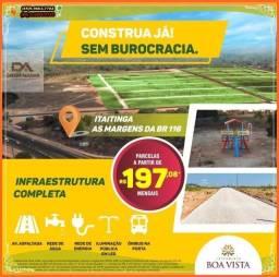 Título do anúncio: R$ 197,00 Lotes a 10 min de Messejana as Margens da BR 116 construção imediata