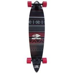 Skate Longboard Mormaii Breeze Étnico ABEC-7 Preto E Vermelho