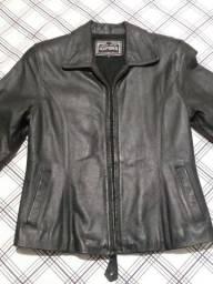 Jaqueta em  couro preta importada ( EUA )