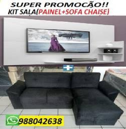 Super Promoção de Kit Sala(Sofa Chaise+Painel) Novo Apenas 749,00