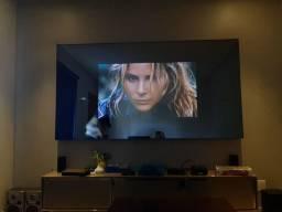 """Baixou!!Painel Movie Cinex Home Theater + SMART TV led 55"""". TV fica Invisível"""