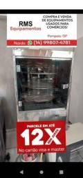 Máquina de assar giratória a gás