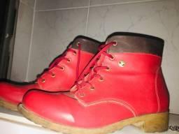 Bota Sapatinho de Luxo vermelha