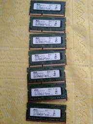 Lote de memórias RAM DDR3 1GB