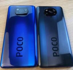 Poco X3 NFC - Xiaomi original , 128 / 6 gigas , tela 6.67 polegadas , câmera de 64 mp