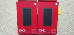 Carregador Portátil Xiaomi Powerbank Redmi 20.000mah Black Original_Lacrado