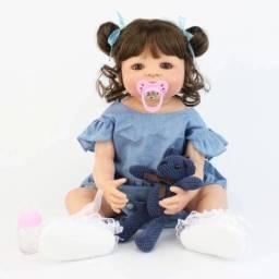 Título do anúncio: Boneca Bebê Reborn Menina Corpo Silicone Vinil Barato Grande - 55cm
