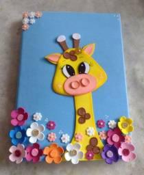 Caderno em Eva Girafa