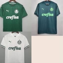 Kit Camisa De Futebol Palmeiras I + Palmeiras II + Palmeiras III