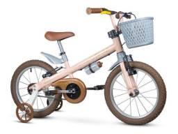 Bicicleta Aro16 Infantil Antonella Girl Rosa Nathor 5-8 Anos