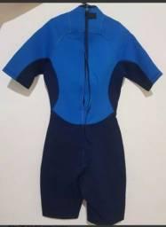 Título do anúncio: roupa de mergulho surf piscina praia tribord azul e preto<br><br>
