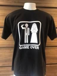 Camisa Namorado Não Case Game over tamanho GG