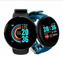 Novo Smartwatch D18 2021 FOTO GALERIA CONTROLE DE MÚSICA + 1 Pulseiras