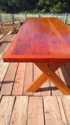 Mesa de peroba rosa 3 metros por 90 cm largura
