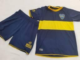 Título do anúncio: Uniforme Escola Futebol Boca Juniors