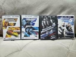 Coleção 4 DVDs Originais Velozes e Furiosos