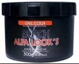 Gel cola black pigmentacao