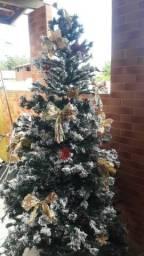 Árvore de Natal de mais de 2m coifa usada em perfeito estado vários vasos para plantas