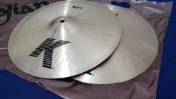 Kit Zildjian K Hihat 14 Crashes 16 e 18 Ride 20