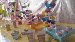 Centro de Mesa para Aniversários e Baby chá