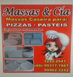 Massas pastel e pizza