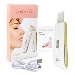 Aparelho portátil de limpeza de pele e peeling ultrassônico e iontoforese