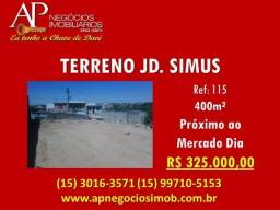 Terreno Jd. Simus 400m² E.S.C.R.I.T.U.R.A.D.O
