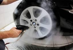 Máquina a vapor para limpeza e higienização automotiva