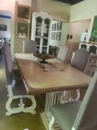 Mesa Sala de Jantar com Buffet Rústico