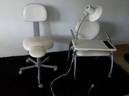 Cadeira de Manicure e Cadeira Pé Decure