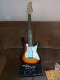 Guitarra + pedaleira boss me25