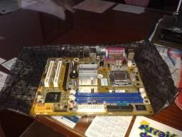 Placa mãe Intel de computador MegaWare ? original ? com defeito, aproveitar as peças