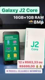 Galaxy J2 Core 16GB Novo Lacrado