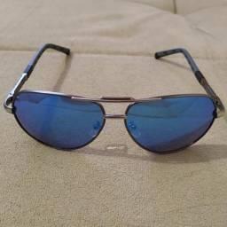 Óculos de sol aviador espelhado azul