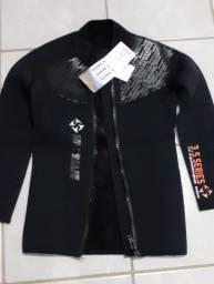Jaqueta de neoprene, 3mm, tamanho P