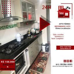 Apartamento Térreo 2 Qts Reformado Qd 103 Setor Total Ville Santa Maria-DF