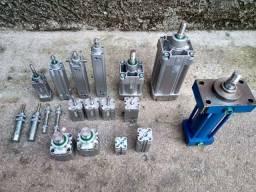 Motoredutor cilindro pneumático hidráulico