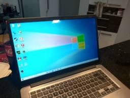 Notebook Gamer Asus x510U i7 7500 8GB SSD 256 e Placa de video dedicada GDDR5