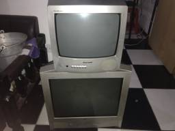 TVs de tubo LG (21) e Panasonic de (14) polegadas