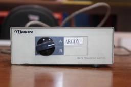 Título do anúncio: Data Trasnfer Switch c/ 2 Módulos Maxxtro Argox em Metal Bege 6 cm x 20 cm x 10 cm