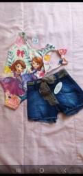 Título do anúncio: Conjunto feminino bore e short jeans