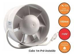 Título do anúncio: Exaustor Cultivo Indoor Growpro Fan 100mm 130m³/h 110v