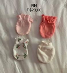 Touca e Luva para Bebê RN