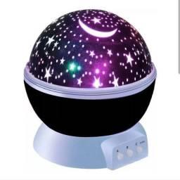 Luminaria Abajur Rotativa Projetor Globo Estrela Criança(house_eletronics)