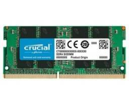 Título do anúncio: Memória Crucial, 8GB, 2666MHz, DDR4, Para Notebook, CL19 - CT8G4SFRA266