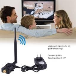 Amplificador de sinal banda larga sem fio Roteador 8.15 ?HOT? Profissional 2.4GHZ 4W Wifi
