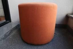 Puff / Tok Stok / em Tecido Laranja 40 cm x 40 cm x 40 cm
