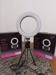 RING LIGHT LED COM TRIPÉ DE MESA