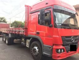 Caminhão Mercedes Atego 2426 6x2 carroceria 9 metros 2015/15