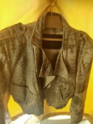 Jaqueta de Couro mesclada